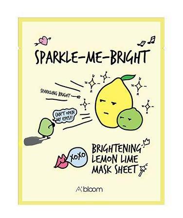 A'Bloom Sparkle-Me-Bright Brightening Lemon Lime Mask Sheet