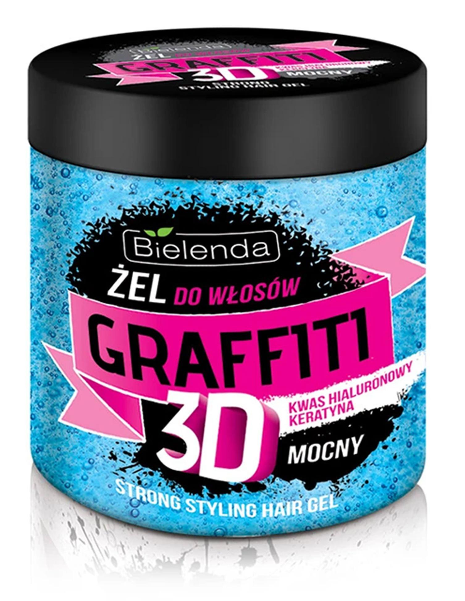 Bielenda Graffiti Hair Gel Strong Blue Jar