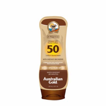 Australian Gold Australian Gold Sunscreen Lotion with Kona Coffee Infused Bronzer SPF 50