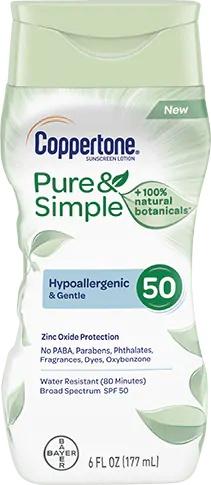 Coppertone Pure & Simple Lotion Spf 50