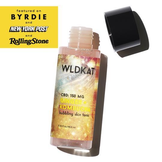 WLDKAT Cbd 150Mg Ginger + Kombucha Bubbling Skin Tonic