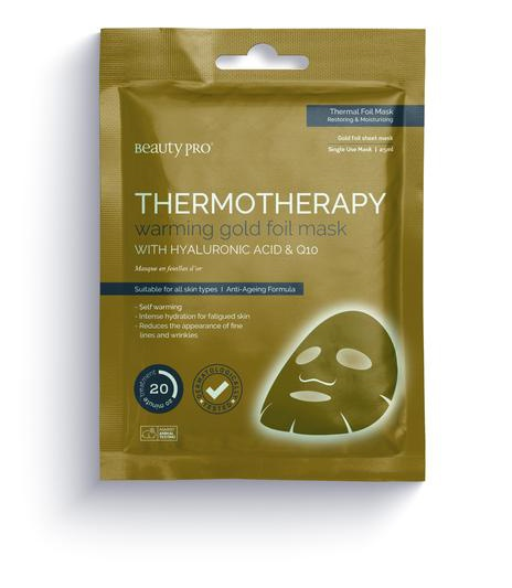 Beauty Pro Thermotherapy Warming Gold Foil Mask