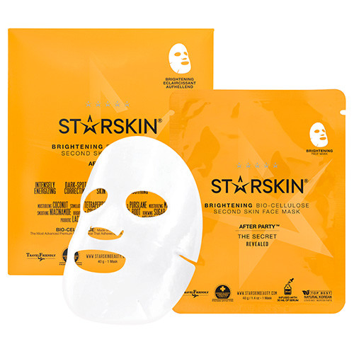 STARSKIN After Party Brightening Bio Cellulose Second Skin Face Mask