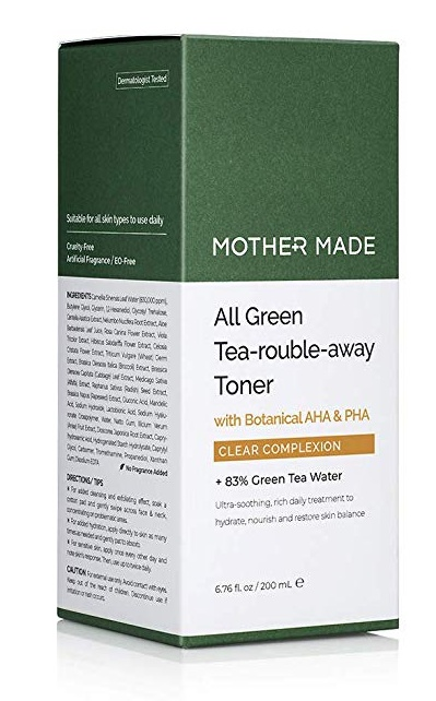 MOTHER MADE All Green Tea-Rouble-Away Face Toner