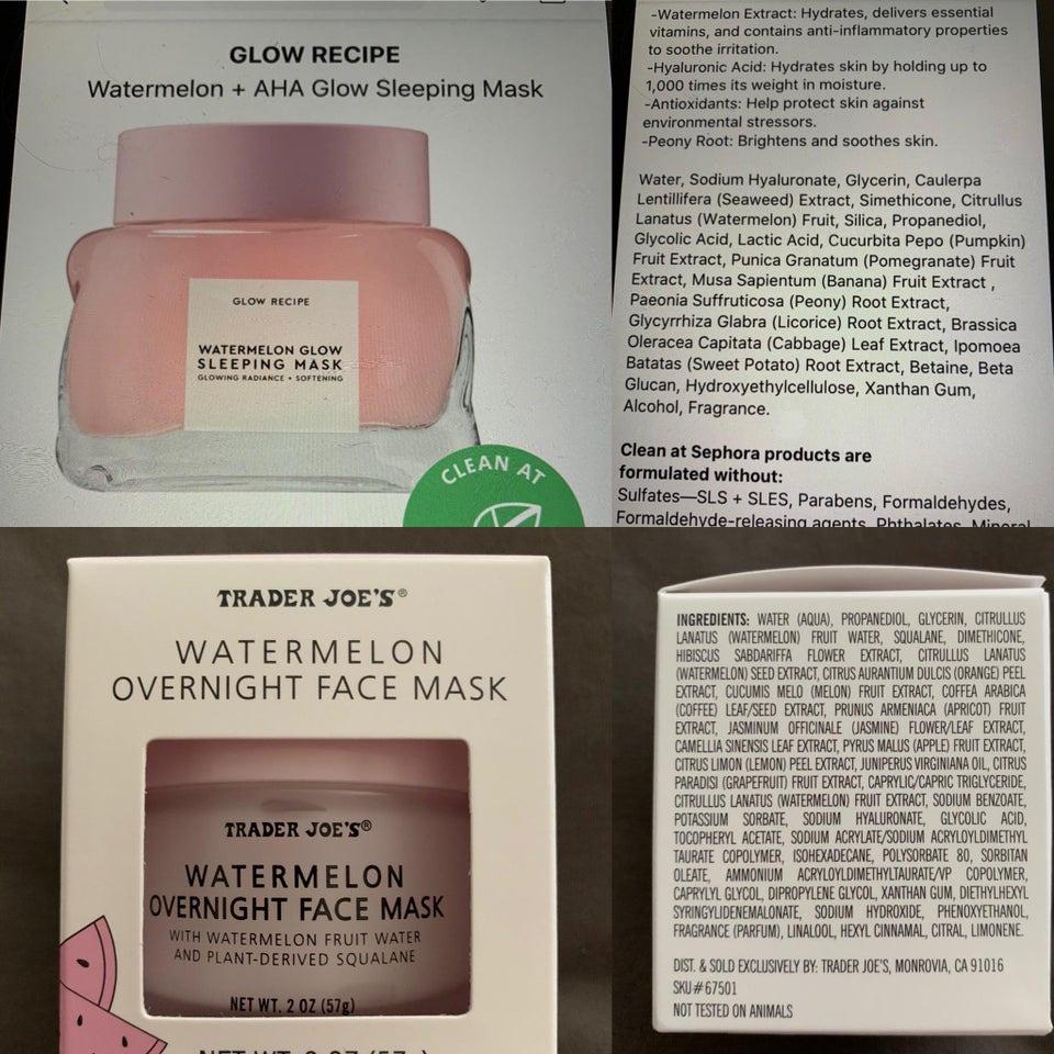Trader Joe's Watermelon Overnight Face Mask