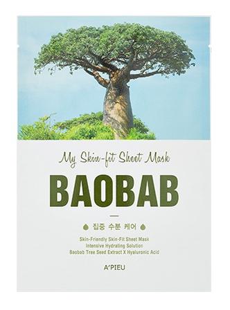 A'pieu My Skin-Fit Sheet Mask - Baobab
