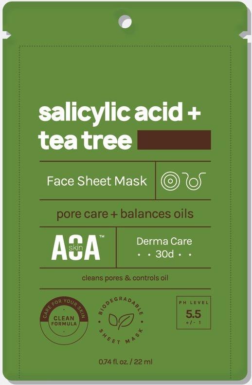AOA Skin Aoa Salicylic Acid And Tea Tree Sheet Mask