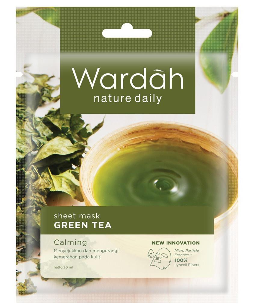 Wardah Nature Daily Sheet Mask Green Tea