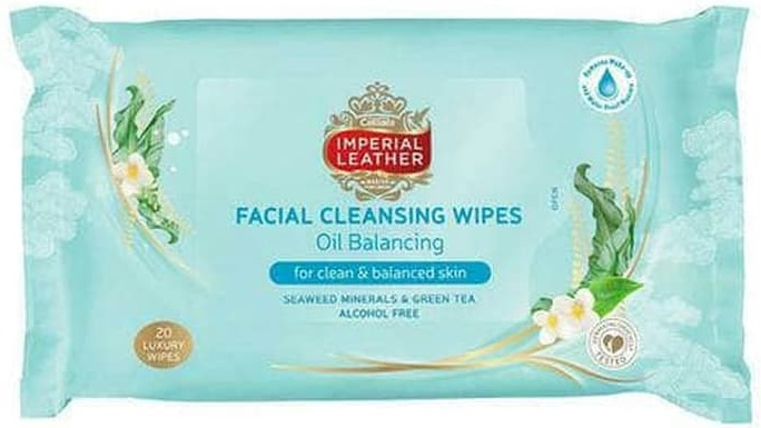 Imperial Leather Facial Cleansing Wipes Oil Balancing