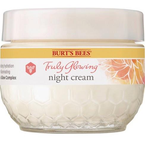 Burt's Bees Truly Glowing Night Cream For Dry Skin