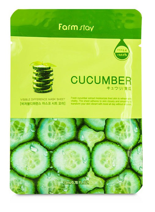 Farmstay Visible Difference Sheet Mask Cucumber