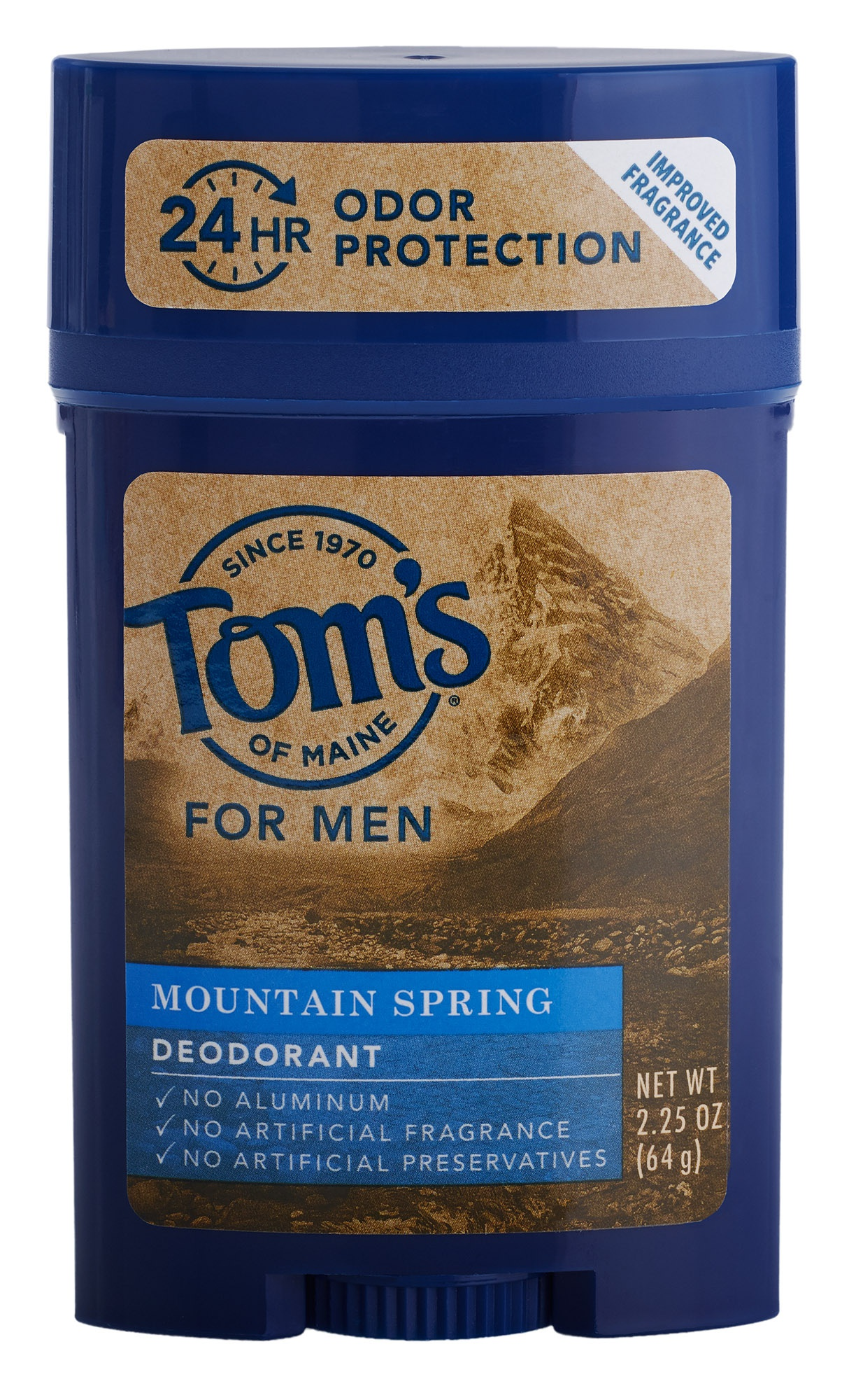 tom's of maine Natural Men'S Long Lasting Deodorant Mountain Spring