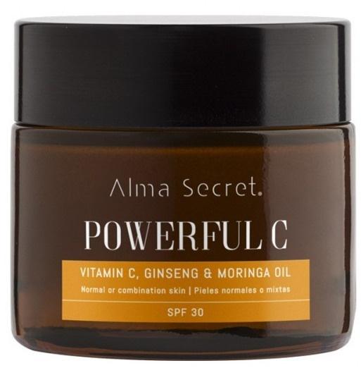 Alma Secret Powerful C Anti-Aging Illuminating With Vitamin C, Ginseng & Moringa.  SPF 30