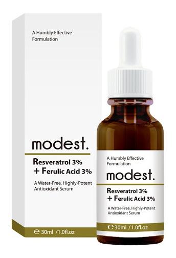 modest. Resveratrol 3% + Ferulic Acid 3% Serum