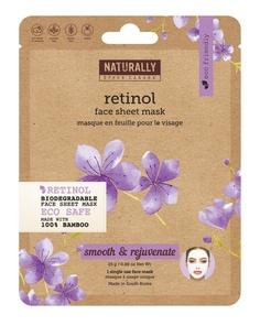 Naturally Upper Canada Soap Retinol Biodegradable Sheet Mask