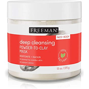 Freeman Instant, Deep Cleansing Facial + Body Powder To Clay Mask