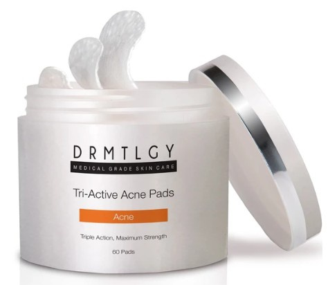 DRMTLGY Tri-Active Acne Pads