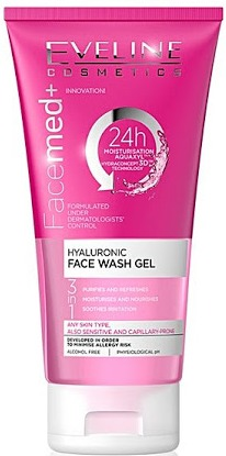 Eveline 3 In 1 Hyaluronic Face Wash Gel