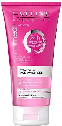 Eveline 3 In 1 Hyaluronic Face Wash Gel