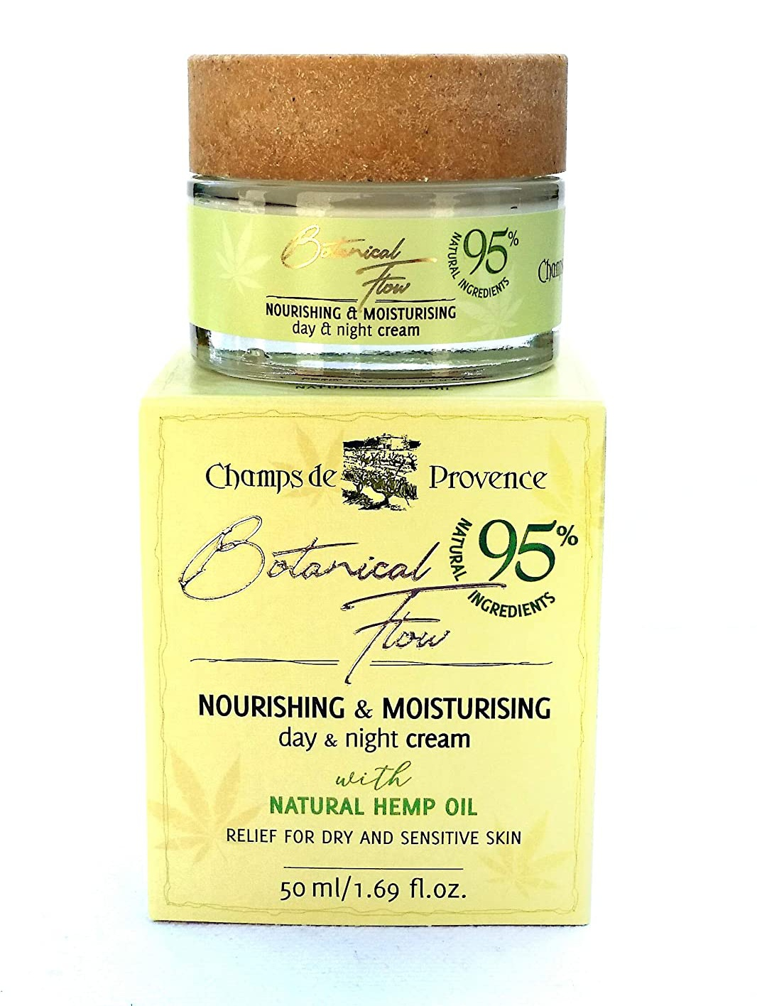 Champs de Provence Nourishing And Moisturizing Cream - Natural Hemp Oil