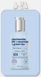 AOA Skin Niacinamide 2% Ceramide Green Tea Foam Cleanser