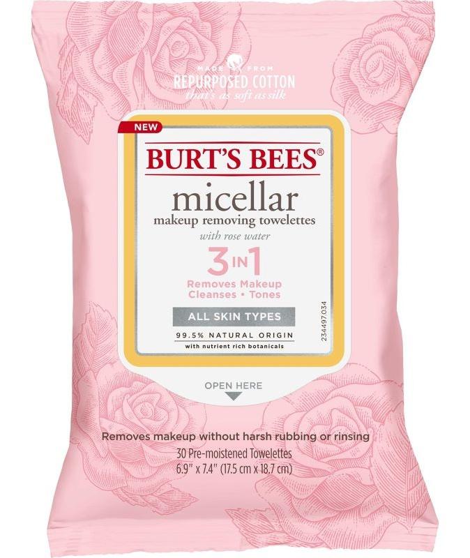 Burt's Bees Micellar Makeup Removing Towelettes - Rose