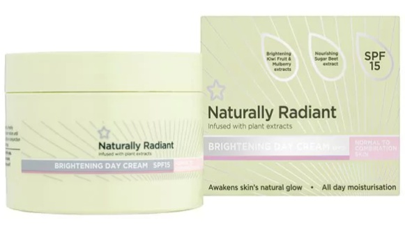 Superdrug Naturally Radiant Day Cream Normal/Combi