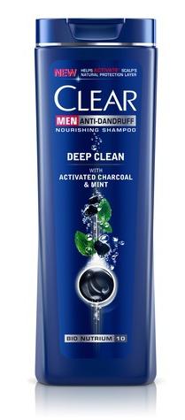 Clear Men Anti Dandruff Shampoo Deep Cleanse With Charcoal Mint