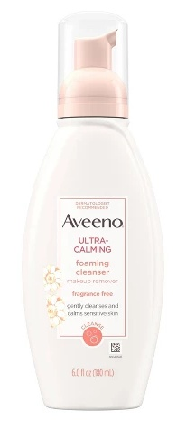 Aveeno Unscented Aveeno Ultra-Calming Foaming Cleanser For Sensitive Skin