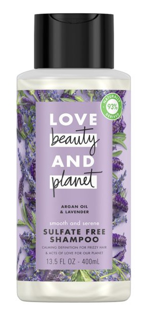 Love beauty and planet Sulfate Free Shampoo Argan Oil And Lavender