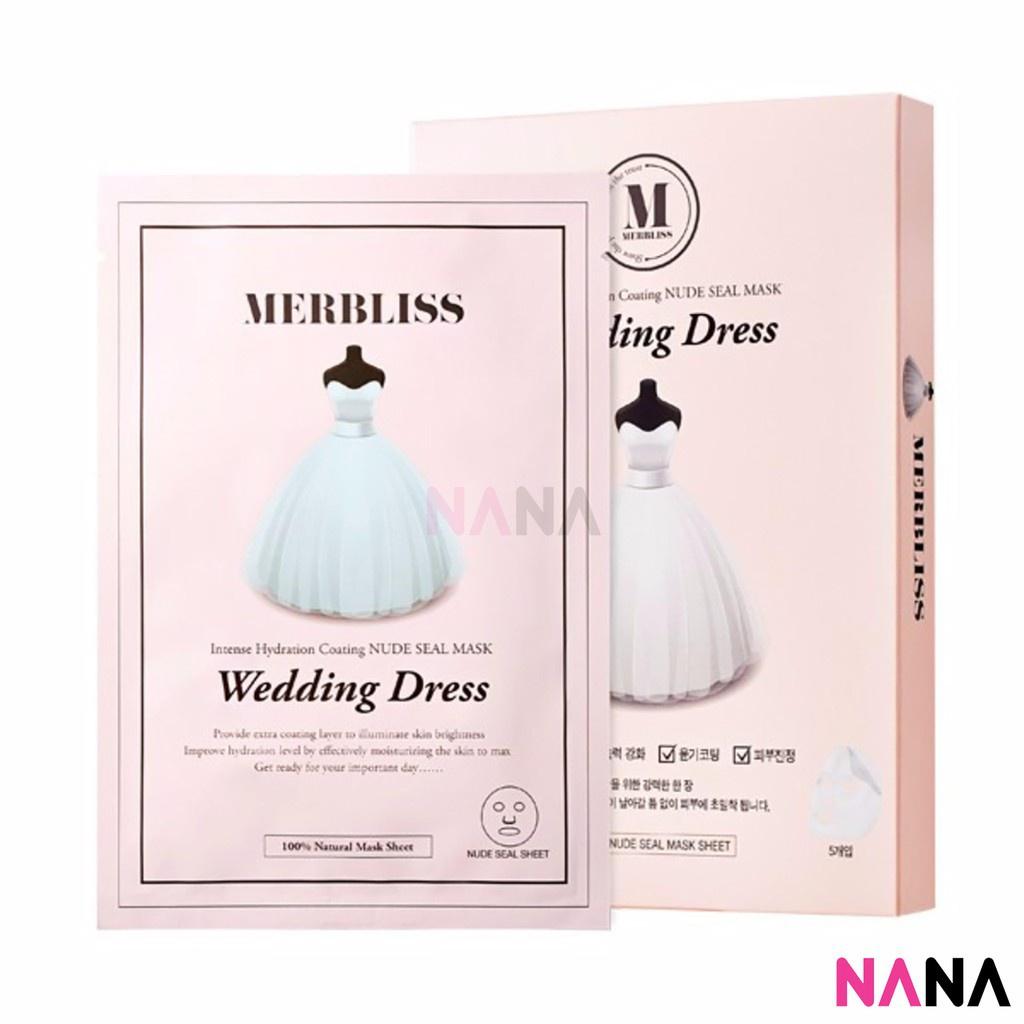Merbliss Wedding Dress Intense Hydration Coating Nude Seal Facial Sheet Mask