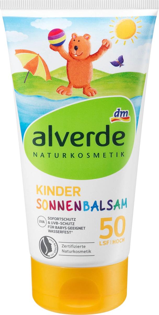 Alverde Naturkosmetik Kinder Sonnenbalsam LSF 50