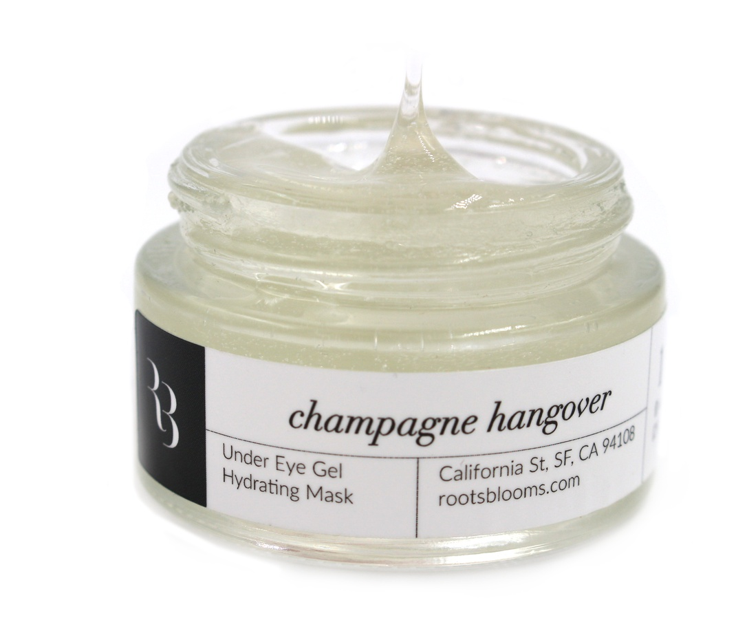 Roots & Blooms Champagne Hangover  Hydrating Eye Gel Mask