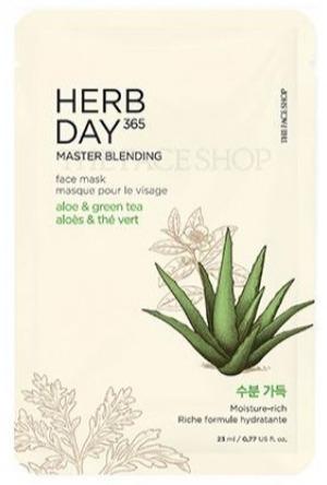 The Face Shop Herb Day Face Mask Aloe & Green Tea
