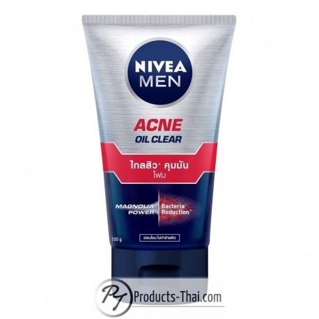 Nivea Men Acne Oil Clear Magnolia Power & Bacteria Reduction Facial Foam