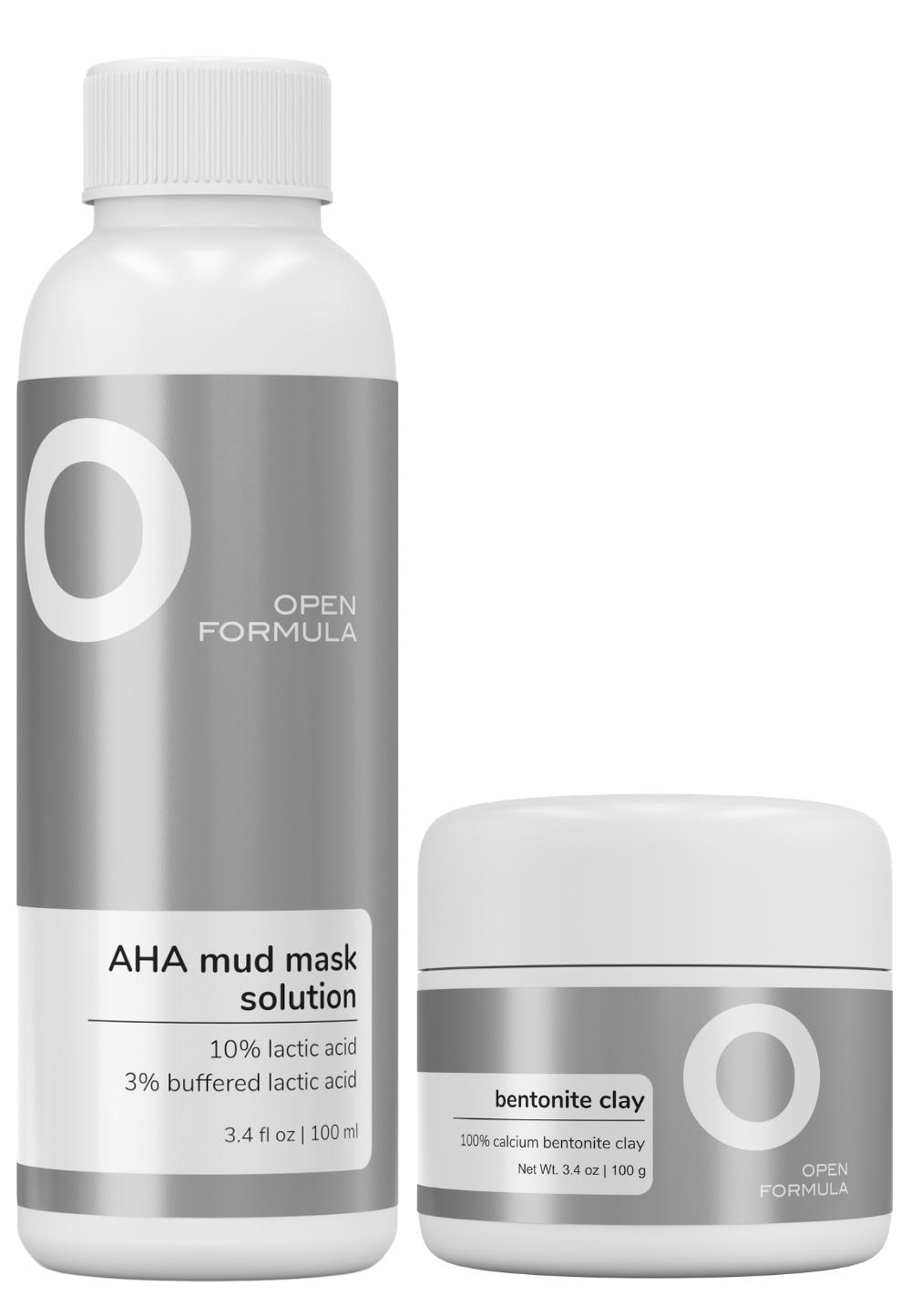 Open Formula Bentonite Clay Mask (100% Bentonite Clay) + 13% AHA Solution