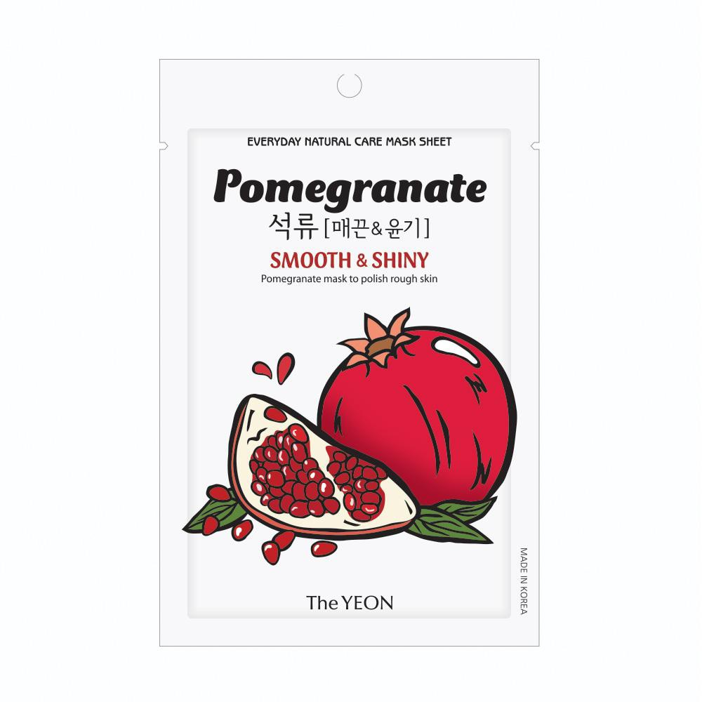 TheYeon Pomegranate Everyday Natural Care Essence Mask Sheet
