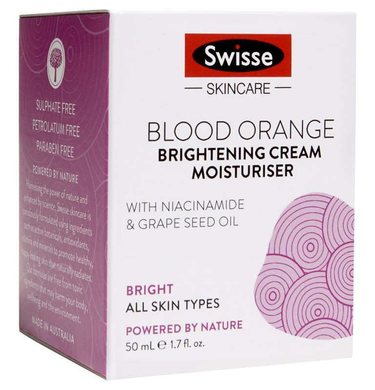 Swisse Skincare Swisse Blood Orange Brightening Cream Moisturiser