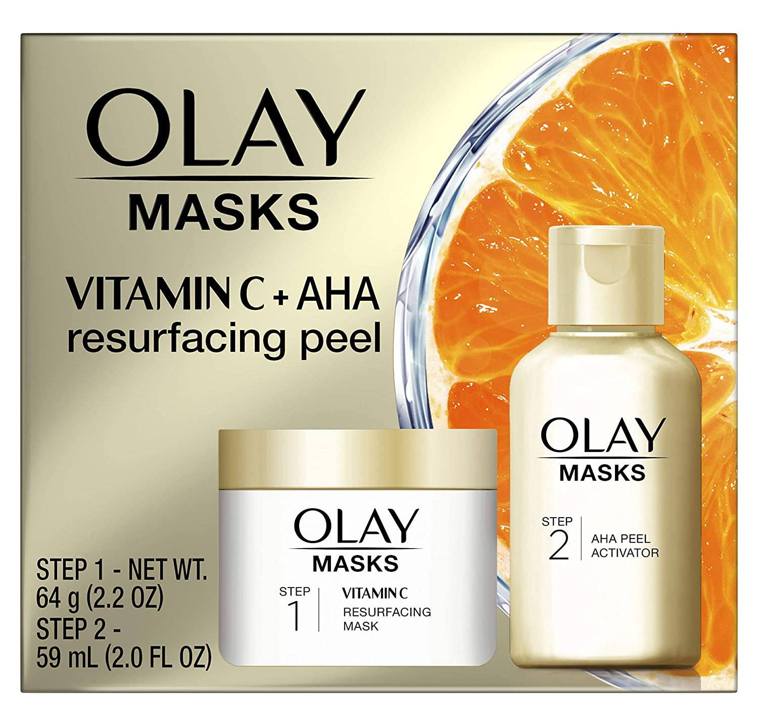 Olay Vitamin C Resurfacing Mask & Resurfacing Peel (Step 1)