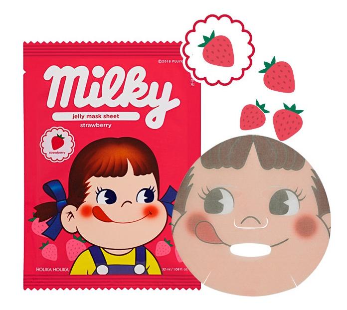 Holika Holika Peko Pure Essence Jelly Mask Sheet Strawberry (Sweet Peko Edition)
