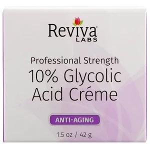 Reviva Labs 10% Glycolic Acid Cream, Anti-Aging