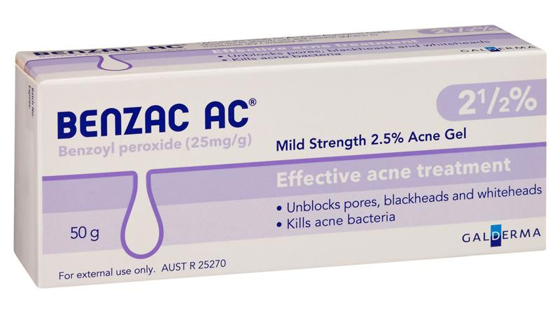 Benzac AC Mild Strength 2.5% Acne Gel