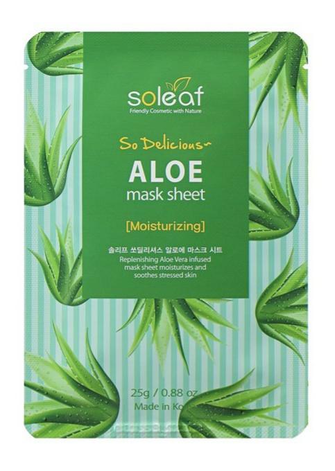 soleaf So Delicious Aloe Mask Sheet [Moisturizing]