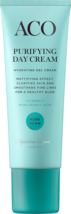 Aco Face Pure Glow Purifying Day Cream Parfymerad Ingredients
