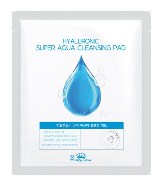 Pretty Skin Hyaluronic Super Aqua Cleansing Pad