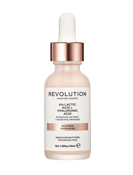 Revolution Mild Skin Exfoliator (5% Lactic Acid + Hyaluronic Acid)
