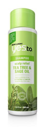 Yes To Naturals tea tree & sage oil scalp relief shampoo