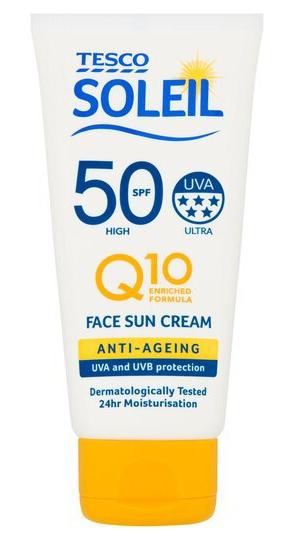 Tesco Soleil Q10 Anti-Aging Sun Cream Face SPF 50