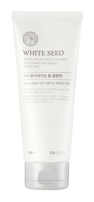 white seed Exfoliating Facial Cleansing Foam