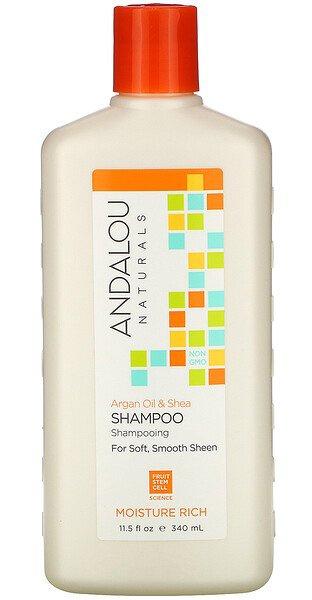 Andalou Naturals Moisture Rich, For Soft, Smooth Sheen, Argan Oil & Shea Shampoo